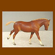Pretty Breyer Flaxen Chestnut Cantering Welsh Pony Model