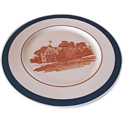 "REDUCED MK&T Railroad Big Blue ""Alamo"" China Service Plate"