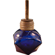 Sweet Little Cobalt Blue Glass Jeweler's Torch or Wax Seal Lamp
