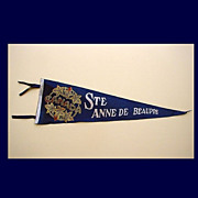 SALE Ste Anne De Beaupre Canada Shrine Felt Pennant