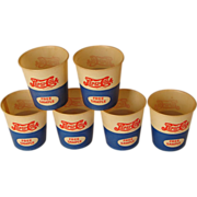 SIX &quot;Free Sample&quot; Wax Paper Pepsi Cola Drinking Cups, Circa 1940