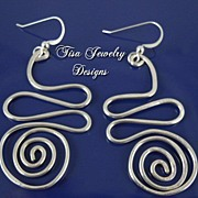 SALE SILVER-FILLED SQUIGGLE EARRINGS � Fun Silver-filled designs. Argentium silver earwires.