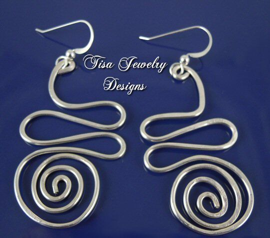 SILVER-FILLED SQUIGGLE EARRINGS – Fun Silver-filled designs. Argentium silver earwires.