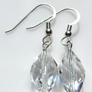 PRINCESS BRIDE  � Premium crystal quartz earrings on non-tarnishing Argentium silver ear wires