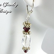 SALE CRISTINA EARRINGS � Premium quartz crystal faceted beads with Swarovski crystals and ster