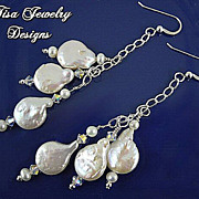 BAROQUE FRESHWATER PEARLS � and Swarovski crystal earrings
