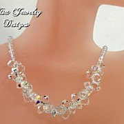 LAURIE III � Sparkling Swarovski crystal necklace