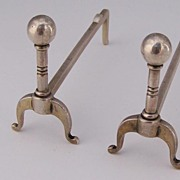 Andiron Knife Rests Sterling Silver Durgin
