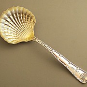 Tiffany Sterling Wave Edge Scallop Shell Serving Spoon