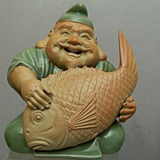 Japanese  Pottery, Ebisu, God of Fishermen