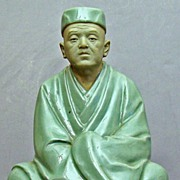 Japanese Pottery Scholar Figure Finely Modeled.