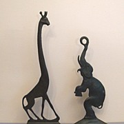 Bronze Giraffe and Elephant        A Marvelous Pair