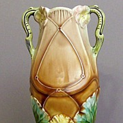 Lovely Art Nouveau Majolica Vase