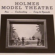 Holmes Model Theatre With Figures Scenery Working Stage