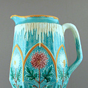 Wedgwood Majolica Pitcher Flowers and Ice