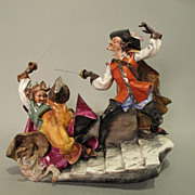"Don Quixote and Sancho Panza "" The Duel"" Capodimonte Ginori"