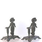 Kate Greenaway Silverplate Candlesticks Tufts