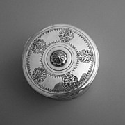 Islamic Silver Chased Lidded Box