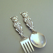 Sterling Doggie Child's Spoon & Fork