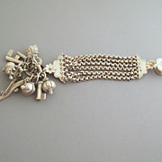 800 Silver Chatelaine with 11 Attachments