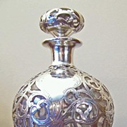 Sterling Overlay Perfume Bottle