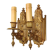 Ornate Antique Gilded Brass Sconces