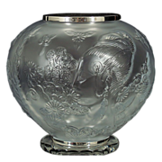 SALE Erte Flowers Among Flowers Urn / Vase - French Crystal - LE 170/250 - 1984-Romain de Tirt