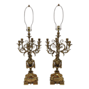 SALE Pair Napoleon III French Candelabras