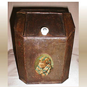 REDUCED Small Antique Store Display Tea Bin
