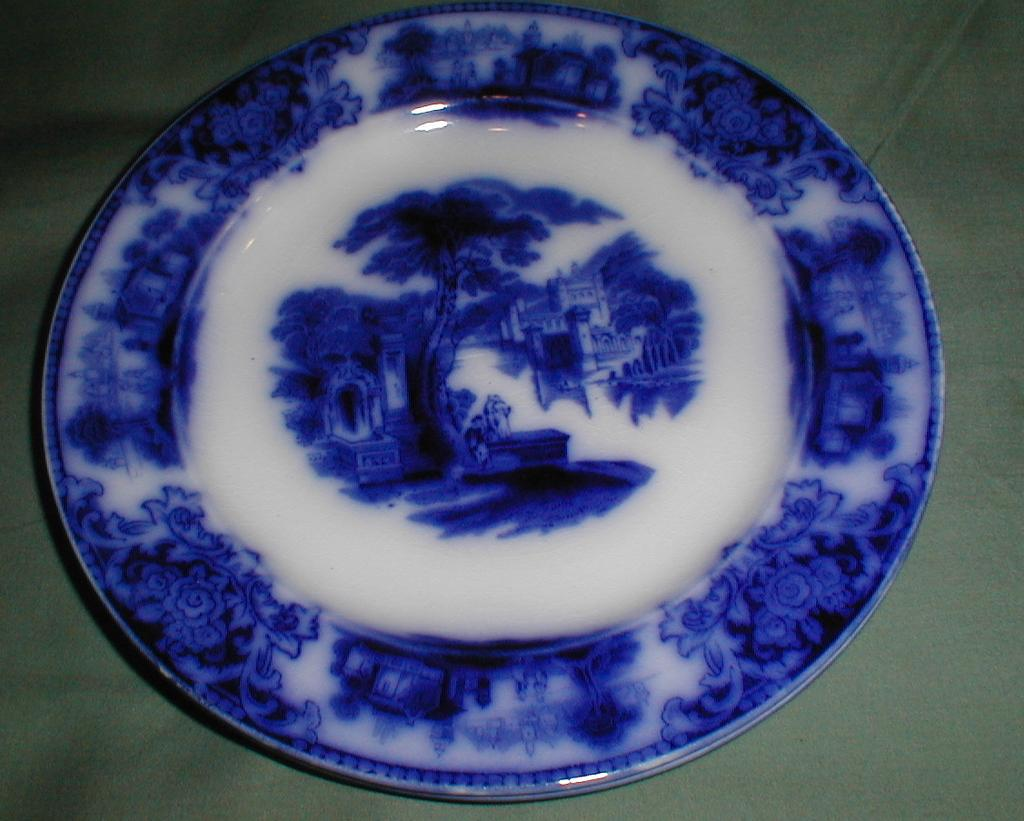 Lovely Flow Blue Plate SHANGHAI W. H. Grindley