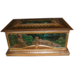 Lovely Antique Mustard Tin Box (Casket), Art Nouveau