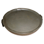 REDUCED 19th Century Pewter Warming Plate, James Dixon, Sheffield