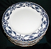 "Lovely Flow Blue 9 3/4"" Dinner Plate REX Adderleys (12 available)"