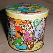 Children's Decorative Blue Bird Confectionery Tin