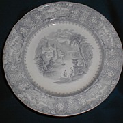 Lovely Green Transferware Plate GENOA R. Cochran & Co.
