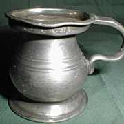 REDUCED 19th Century Small Bulbous Pewter Measure, British