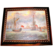 Lovely Framed Seascape Oil Painting on Canvas