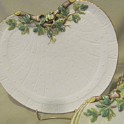 Beautiful White Porcelain Salad or Dessert Set of 8 Plates