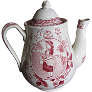 REDUCED Lovely Teapot Child's Tea Set MISS MAY Allerton England ca 1880