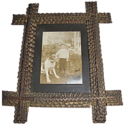 Antique Chip-Carved 4-Layer Photograph Frame