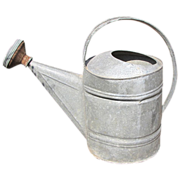 Large Vintage Galvanized Watering Can (12)