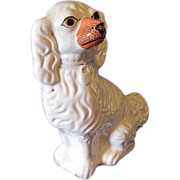 Large Single Staffordshire Dog (Spaniel), Painted Eyes