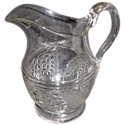 REDUCED Large Bulbous Water Pitcher, EAPG, McKee, BARBERRY