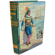1950's Chad Valley English Book Toffee Tin Bank, WESTWARD HO