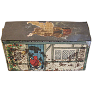 Rare British Biscuit Tin, Juvenile, Peek Frean, LITTLE RED RIDING HOOD