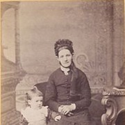Victorian Photograph CDV of a Woman & Child