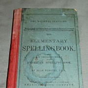 REDUCED The National Standard ELEMENTARY SPELLING BOOK by Noah Webster