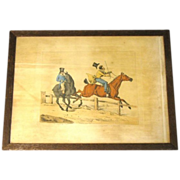 C. 1821 Colored Engraving Henry Alken &quot;Preparing for the Easter Hunt&quot;