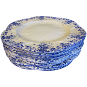 "Lovely Bone China Dinner Plate, DAINTY BLUE"" by Shelley (8 Available)"