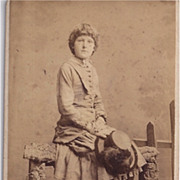 Carte De Visite of Young Girl in Riding Habit